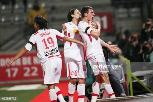Joie Nancy Alexandre CUVILLIER / Pascal BERENGUER / Marama VAHIRUA Nancy / Auxerre 23eme journee de Ligue 1