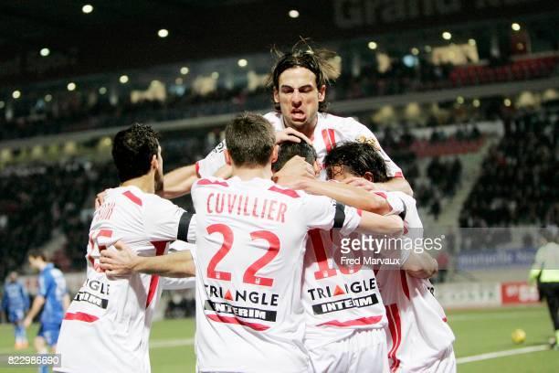 Joie Nancy Julien FERET / Pascal BERENGUER Nancy / Auxerre 23eme journee de Ligue 1