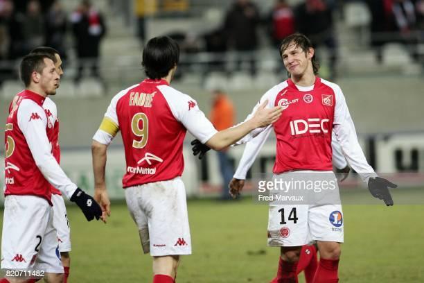 Joie Reims Gregory KRYCHOWIAK Reims / Amiens 25e journee National Stade Auguste Delaune