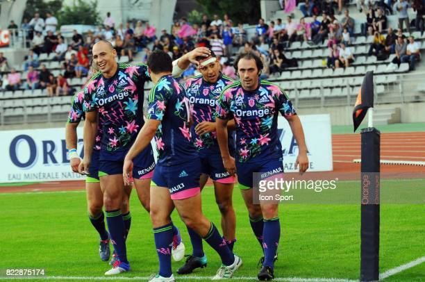 Joie Stade Francais / Sergio PARISSE / Julien ARIAS / Julien DUPUY Stade Francais / La Rochelle 2eme journee de Top 14 Stade Charlety Paris