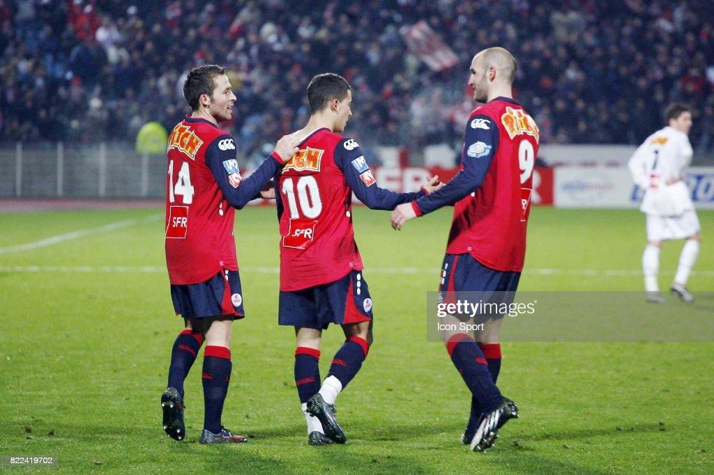 Joie Yohann CABAYE / Eden HAZARD / Robert VITTEK - - Lille / Lyon - 1/8e finale Coupe de France,