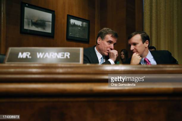 Joint Economic Committee members Sen Mark Warner and Sen Christopher Murphy speak during a hearing about on fixing America's crumbling infrastructure...