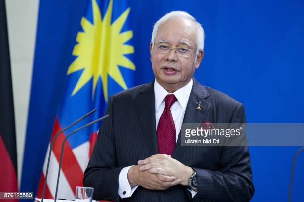 Joint press conference with German Chancellor Angela_Merkel and the Prime Minister of Malaysia Najib Razak at the Federal Chancellery in Berlin on...