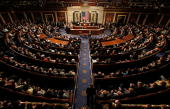 A joint session of Congress meets to count the Electoral College vote from the 2008 presidential election the House Chamber in the US Capitol January...