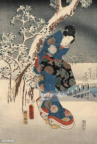 Joint work by Utagawa Kunisada and Utagawa Hiroshige Ando Hiroshige 17971858 Utagawa Toyokuni 17861865 Furyu genji yuki no nagame Date...