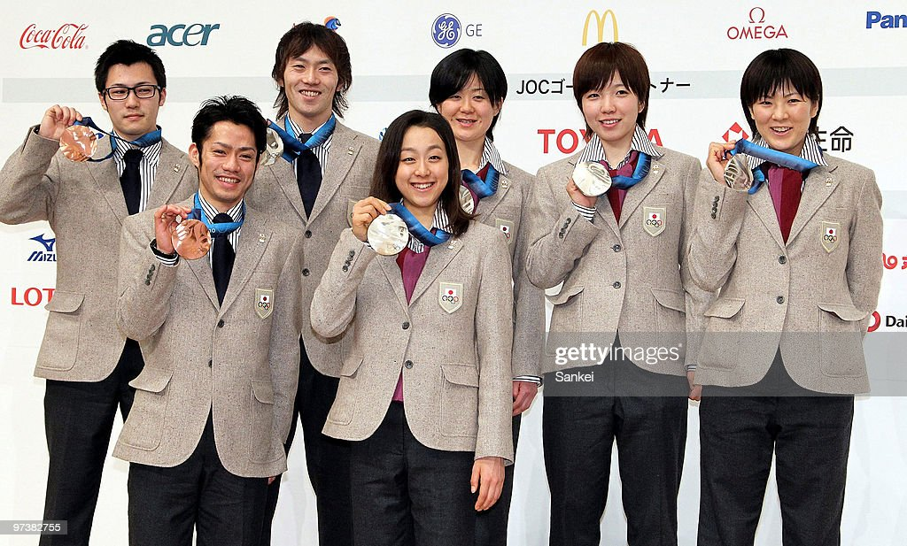 <a gi-track='captionPersonalityLinkClicked' href=/galleries/search?phrase=Joji+Kato&family=editorial&specificpeople=818932 ng-click='$event.stopPropagation()'>Joji Kato</a>, <a gi-track='captionPersonalityLinkClicked' href=/galleries/search?phrase=Daisuke+Takahashi&family=editorial&specificpeople=725172 ng-click='$event.stopPropagation()'>Daisuke Takahashi</a>, <a gi-track='captionPersonalityLinkClicked' href=/galleries/search?phrase=Keiichiro+Nagashima&family=editorial&specificpeople=818808 ng-click='$event.stopPropagation()'>Keiichiro Nagashima</a>, <a gi-track='captionPersonalityLinkClicked' href=/galleries/search?phrase=Mao+Asada&family=editorial&specificpeople=247229 ng-click='$event.stopPropagation()'>Mao Asada</a>, <a gi-track='captionPersonalityLinkClicked' href=/galleries/search?phrase=Maki+Tabata&family=editorial&specificpeople=227374 ng-click='$event.stopPropagation()'>Maki Tabata</a>, <a gi-track='captionPersonalityLinkClicked' href=/galleries/search?phrase=Nao+Kodaira&family=editorial&specificpeople=4067396 ng-click='$event.stopPropagation()'>Nao Kodaira</a> and <a gi-track='captionPersonalityLinkClicked' href=/galleries/search?phrase=Masako+Hozumi&family=editorial&specificpeople=4037957 ng-click='$event.stopPropagation()'>Masako Hozumi</a> pose for photographs during the Japanese Medalists press conference Grand Prince Hotel Shin Takanawa on March 2, 2010 in Tokyo, Japan.