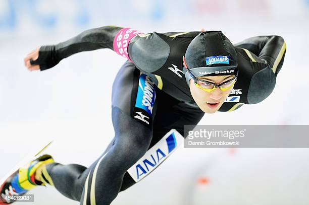 Joji Kato of Japan competes in the Men's 500m Division A competition during Day 3 of the Essent ISU World Cup on December 8 2013 in Berlin Germany