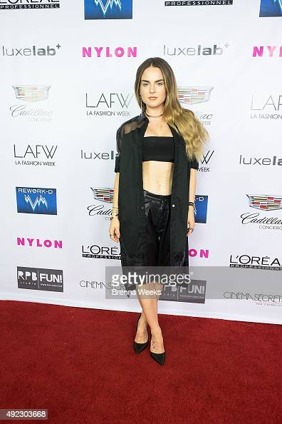 JoJo attends the Ashton Michael SS 16 Fashion Show at Union Station on October 10 2015 in Los Angeles California