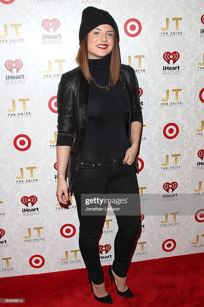 JoJo attends the Target Presents The iHeartRadio '20/20' Album Release Party With Justin Timberlake at El Rey Theatre on March 18, 2013 in Los Angeles, California.