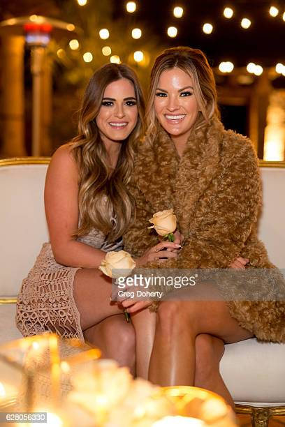 JoJo Fletcher and Becca Tilley attend the Becca Tilley's Blog And YouTube Launch Party at The Bachelor Mansion on December 5 2016 in Los Angeles...