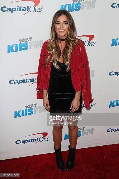 JoJo Fletcher arrives at 1027 KIIS FM's Jingle Ball 2016 at the Staples Center on December 2 2016 in Los Angeles California