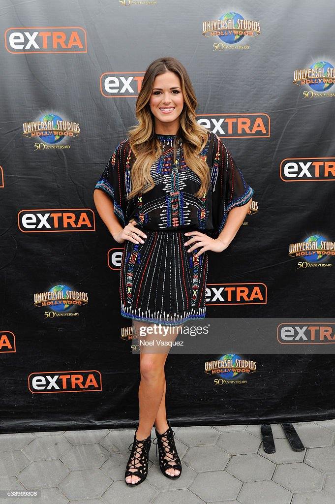 JoJo Fletcher visits 'Extra' at Universal Studios Hollywood on May 24, 2016 in Universal City, California.