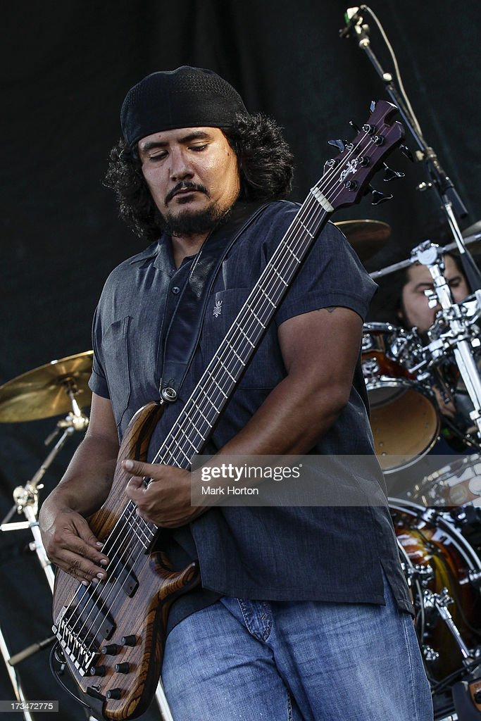 Jojo Garza of Los Lonely Boys performs on Day 10 of the RBC Royal Bank Bluesfest on July 14, 2013 in Ottawa, Canada.