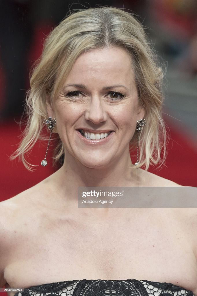 Jojo Moyes attends the film premiere of Me Before You in London, United Kingdom on May 25, 2016.