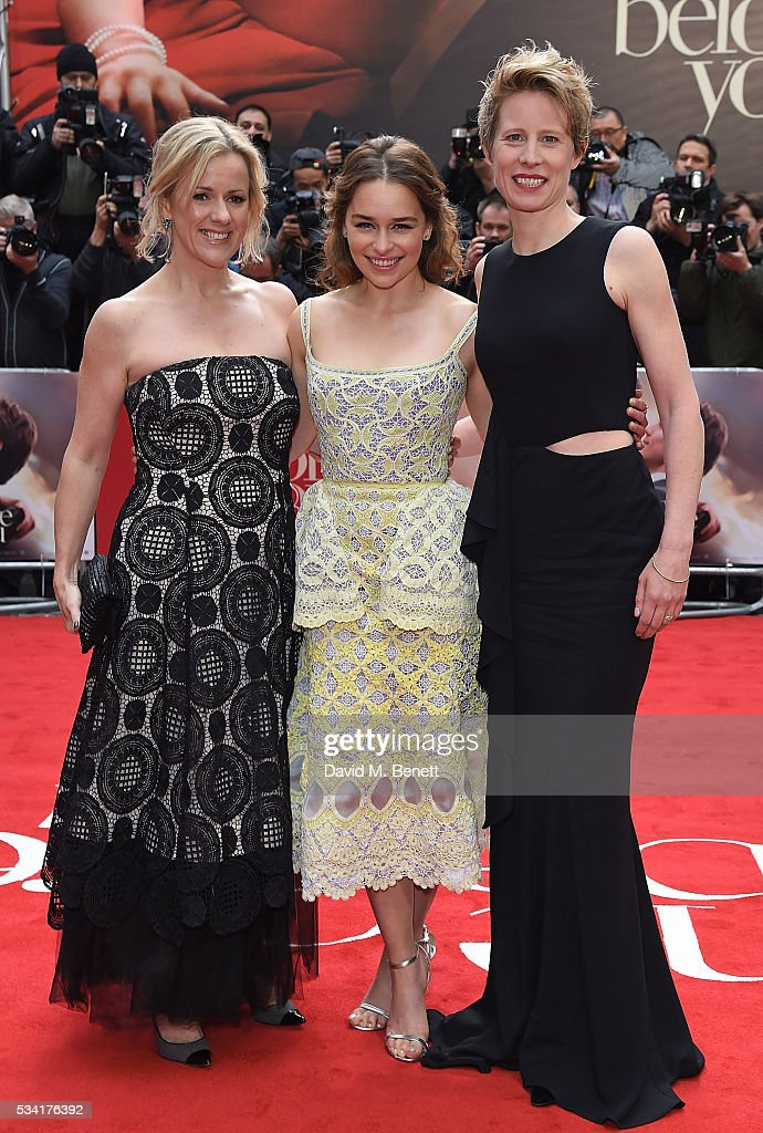 Jojo Moyes, <a gi-track='captionPersonalityLinkClicked' href=/galleries/search?phrase=Emilia+Clarke&family=editorial&specificpeople=7426687 ng-click='$event.stopPropagation()'>Emilia Clarke</a> and Thea Sharrock attend the European Premiere of 'Me Before You' at The Curzon Mayfair on May 25, 2016 in London, England.