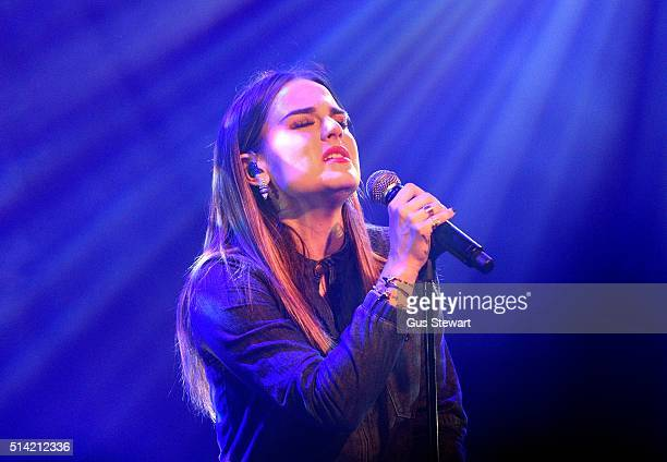 JoJo performs on stage at the O2 Academy Islington on March 7 2016 in London England