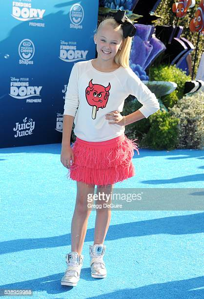 JoJo Siwa arrives at the World Premiere of DisneyPixar's 'Finding Dory' at the El Capitan Theatre on June 8 2016 in Hollywood California
