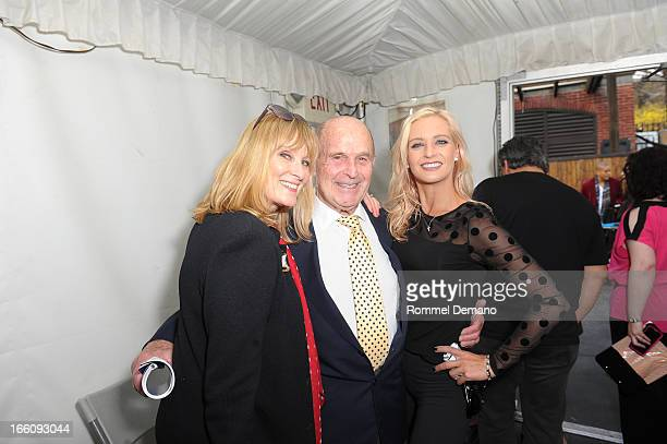 Jojo Starbuck Dick Button and Nicole Bobek attend The 2013 Skating With The Stars Benefit Gala at Trump Rink at Central Park on April 8 2013 in New...