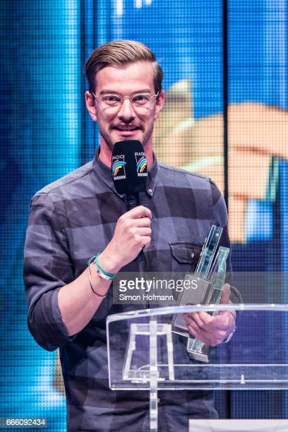 Joko Winterscheidt is awarded during the Radio Regenbogen Award 2017 at Europapark on April 7 2017 in Rust Germany