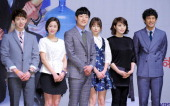 JoKwon Jeon HyeBin Lee HeeJun Jung YuMi Kim HyeSoo and O JiHo attend the KBS2 Drama 'The Queen of Office' press conference at Samsung Hall in ECC on...
