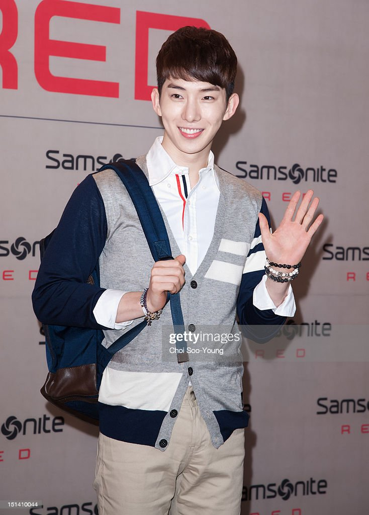 Jo-Kwon of 2AM attends 'Samsonite RED 2012 F/W Pop-up Exhibition' on August 23, 2012 in Seoul, South Korea.