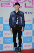JoKwon of 2am attends the 'Marriage Blue' VIP Press Screening at COEX Megabox on November 7 2013 in Seoul South Korea