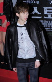 JoKwon of 2am attends the 'Stoker' Red Carpet VIP Press Screening at Yeouido CGV on February 21 2013 in Seoul South Korea