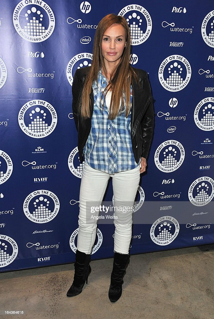 Jolene Blalock arrives at the Summit On The Summit photo exhibition celebrating World Water Day at Siren Studios on March 22, 2013 in Hollywood, California.