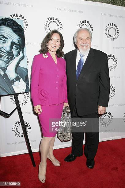 Jolene Brand Schlatter and George Schlatter attends 'It's Been Real The Life and Legacy of Ernie Kovacs' at The Paley Center for Media on April 12...