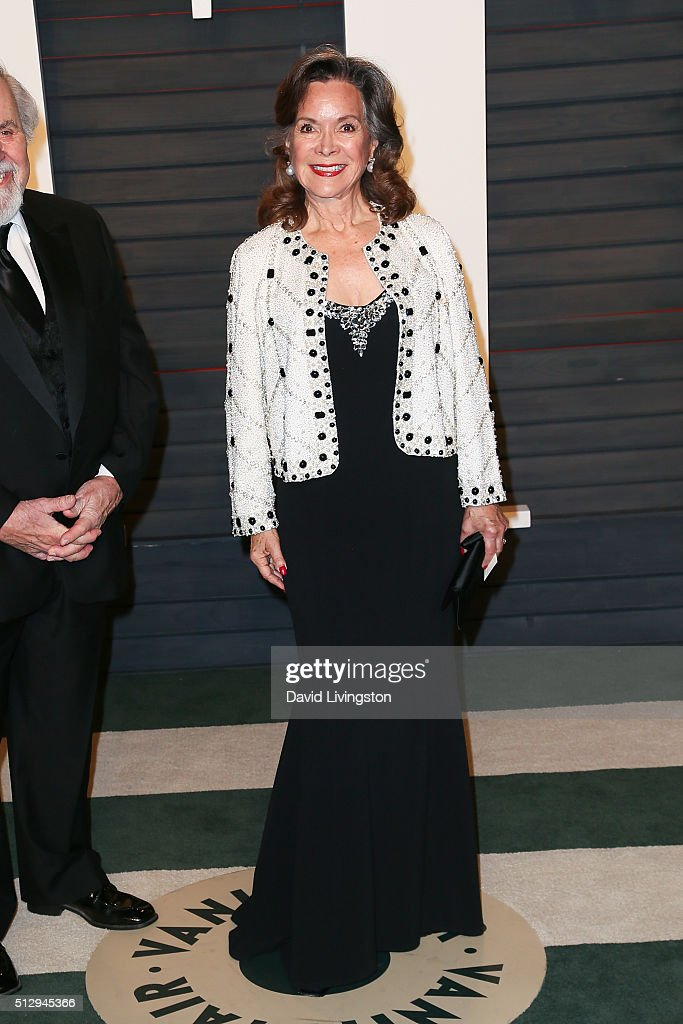 Jolene Schlatter arrives at the 2016 Vanity Fair Oscar Party Hosted by Graydon Carter at the Wallis Annenberg Center for the Performing Arts on...