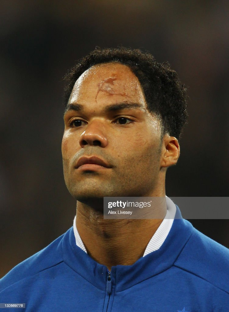 <a gi-track='captionPersonalityLinkClicked' href=/galleries/search?phrase=Joleon+Lescott&family=editorial&specificpeople=687246 ng-click='$event.stopPropagation()'>Joleon Lescott</a> of England looks on prior to the international friendly match between England and Spain at Wembley Stadium on November 12, 2011 in London, England.