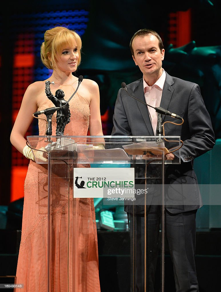 Jolie O'Dell and Daniel Lopez present award at the 6th Annual Crunchies Awards at Davies Symphony Hall on January 31, 2013 in San Francisco, California.