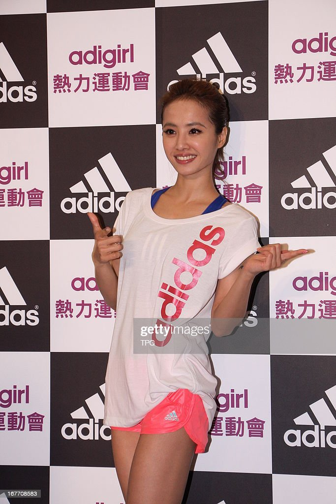 Jolin Tsai attended girls' sports meeting on Saturday April 27, 2013 in Taipei, Taiwan, China.