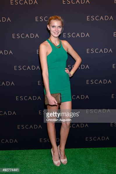 Jolina Fust attends Escada Flagshipstore Opening at Kaisergalerie on May 21 2014 in Hamburg Germany