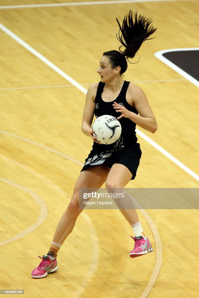 Joline Henry of New Zealand in action during the International Test Match between the New Zealand Silver Ferns and the Malawai Queens at Pettigrew Green Arena on October 27, 2013 in Napier, New Zealand.