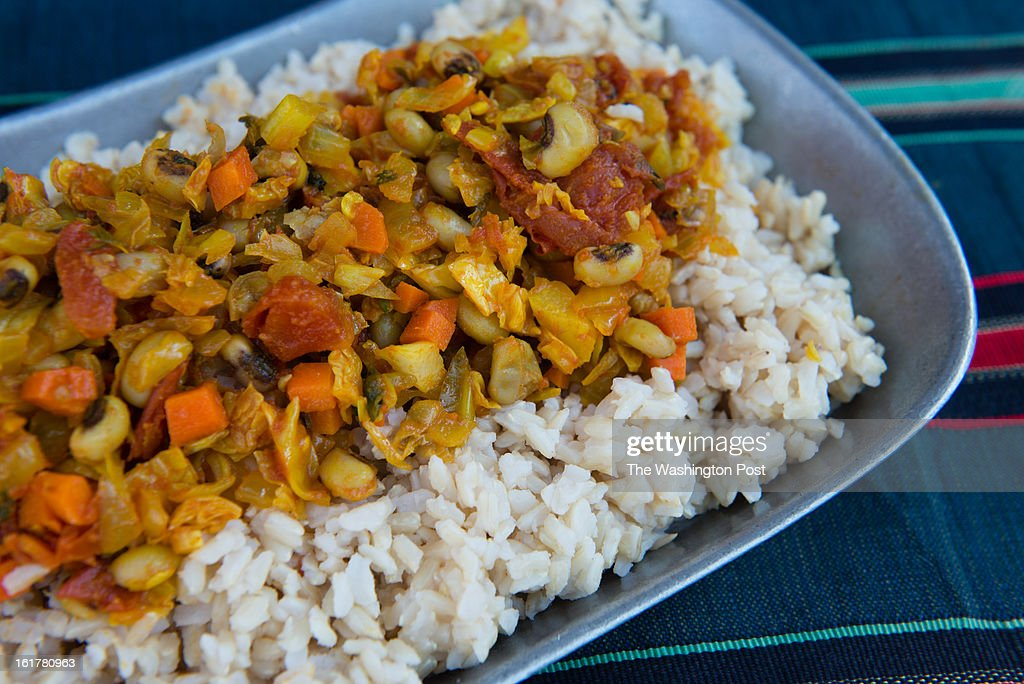Jollof Rice With Black-Eyed Peas is pictured.