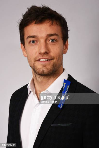 Jolyon Palmer attends the Zoom F1 Charity auction on February 3 2017 in London United Kingdom