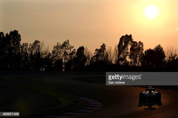 Jolyon Palmer of Great Britain and Lotus drives during day two of Formula One Winter Testing at Circuit de Catalunya on February 20 2015 in Montmelo...