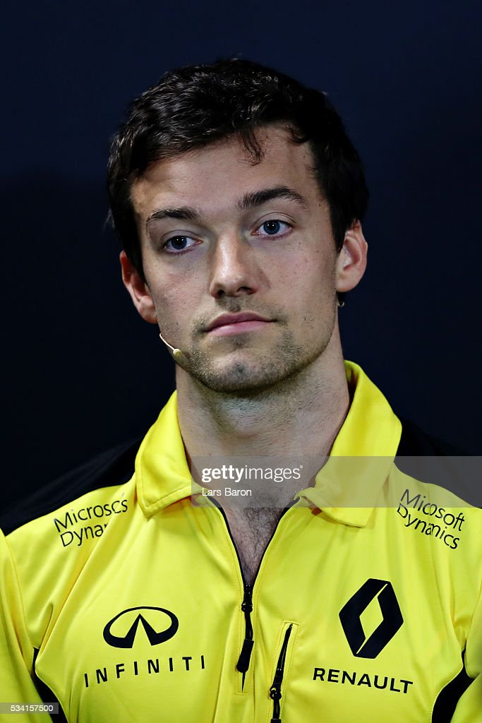 <a gi-track='captionPersonalityLinkClicked' href=/galleries/search?phrase=Jolyon+Palmer&family=editorial&specificpeople=7493068 ng-click='$event.stopPropagation()'>Jolyon Palmer</a> of Great Britain and Renault Sport F1 in the Drivers Press Conference during previews to the Monaco Formula One Grand Prix at Circuit de Monaco on May 25, 2016 in Monte-Carlo, Monaco.