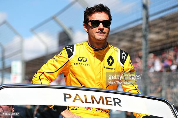Jolyon Palmer of Great Britain and Renault Sport F1 on the drivers parade ahead of the Australian Formula One Grand Prix at Albert Park on March 20...
