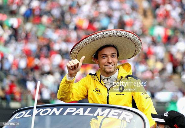 Jolyon Palmer of Great Britain and Renault Sport F1 on the drivers parade before the Formula One Grand Prix of Mexico at Autodromo Hermanos Rodriguez...