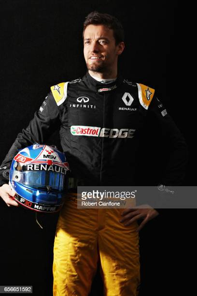 Jolyon Palmer of Great Britain and Renault Sport F1 poses for a portrait during previews to the Australian Formula One Grand Prix at Albert Park on...
