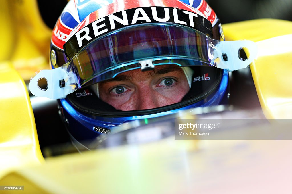 <a gi-track='captionPersonalityLinkClicked' href=/galleries/search?phrase=Jolyon+Palmer&family=editorial&specificpeople=7493068 ng-click='$event.stopPropagation()'>Jolyon Palmer</a> of Great Britain and Renault Sport F1 sits in his car in the garage during practice for the Formula One Grand Prix of Russia at Sochi Autodrom on April 29, 2016 in Sochi, Russia.
