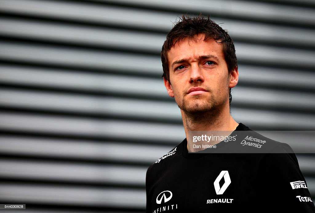 <a gi-track='captionPersonalityLinkClicked' href=/galleries/search?phrase=Jolyon+Palmer&family=editorial&specificpeople=7493068 ng-click='$event.stopPropagation()'>Jolyon Palmer</a> of Great Britain and Renault Sport F1 walks in the Paddock before practice for the Formula One Grand Prix of Austria at Red Bull Ring on July 1, 2016 in Spielberg, Austria.
