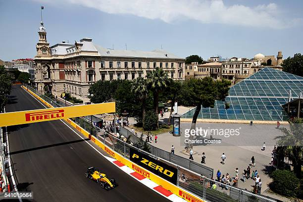 Jolyon Palmer of Great Britain driving the Renault Sport Formula One Team Renault RS16 Renault RE16 turbo on track during final practice before the...