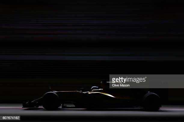 Jolyon Palmer of Great Britain driving the Renault Sport Formula One Team Renault RS16 Renault RE16 turbo on track during the Formula One Grand Prix...