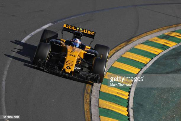 Jolyon Palmer of Great Britain driving the Renault Sport Formula One Team Renault RS17 on track during the Australian Formula One Grand Prix at...