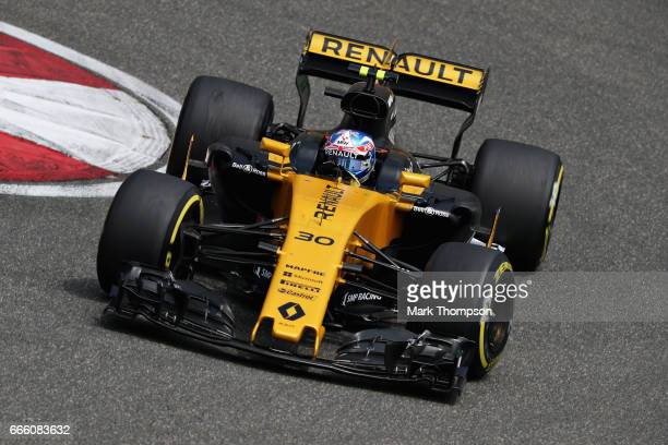 Jolyon Palmer of Great Britain driving the Renault Sport Formula One Team Renault RS17 on track during final practice for the Formula One Grand Prix...