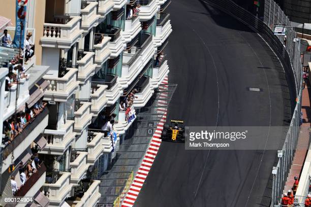 Jolyon Palmer of Great Britain driving the Renault Sport Formula One Team Renault RS17 on track during the Monaco Formula One Grand Prix at Circuit...
