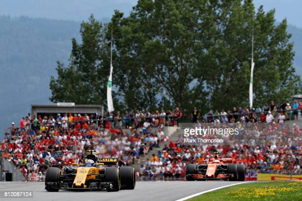 Jolyon Palmer of Great Britain driving the Renault Sport Formula One Team Renault RS17 on track during the Formula One Grand Prix of Austria at Red...